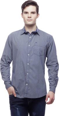 Akara Men's Striped Casual Blue Shirt
