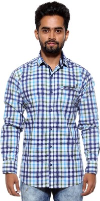 FIFTY TWO Men's Checkered Casual Green Shirt