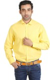 Adventure Men's Solid Formal Yellow Shir...