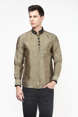Remo Men's Solid Casual Gold Shirt