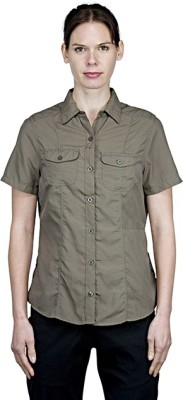 Craghoppers Women's Solid Casual Green Shirt