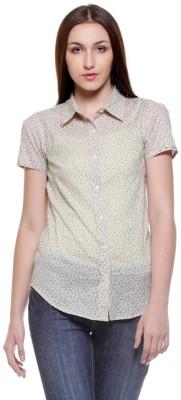 My Addiction Women's Printed Casual Beige Shirt