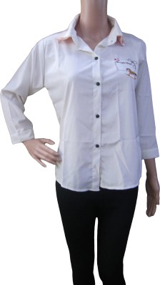 Aaradhya Boutique Women's Solid Formal White Shirt