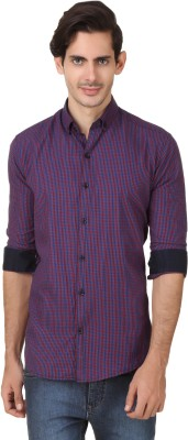 Smithsoul Men's Checkered Casual Red, Blue Shirt