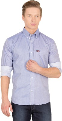 Union Street Men's Solid Casual Blue Shirt