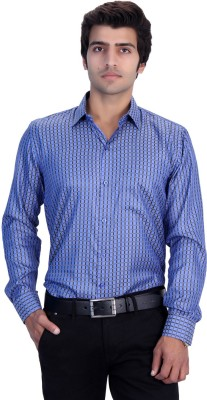 25th R Men,s Checkered Casual Blue, Yellow Shirt