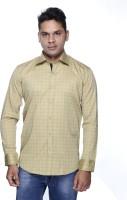 Albi Nyc Formal Shirts (Men's) - ALBI NYC Men's Printed Formal Beige Shirt