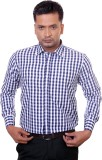 Countryside Men's Checkered Formal Blue,...