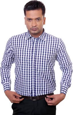 Countryside Men's Checkered Formal Blue, Light Blue Shirt