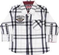 Gini & Jony Baby Boys Checkered Casual Black, White Shirt best price on Flipkart @ Rs. 599