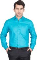 John Hupper Formal Shirts (Men's) - John Hupper Men's Solid Formal Blue Shirt