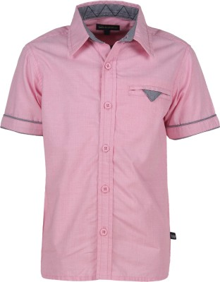 Bells and Whistles Boy's Solid Casual Pink Shirt