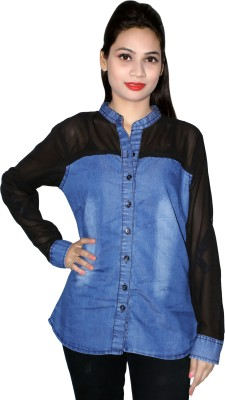 Cherry Clothing Women's Solid Casual Black Shirt