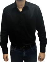 S mark Formal Shirts (Men's) - S Mark Men's Solid Wedding, Party, Formal Black Shirt
