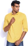 POE Men's Solid Casual Gold Shirt