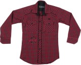 Buds N Blossoms Boys Checkered Casual Re...