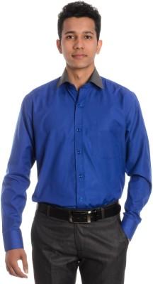 Tag & Trend Men's Solid Formal Blue Shirt