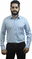 Aces Blue Formal Shirts (Men's) - Aces Blue Men's Solid Formal Blue Shirt