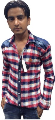 GK Garments Men's Checkered Casual Multicolor Shirt
