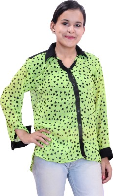Krazzy Collection Women,s Printed Casual Yellow, Black Shirt