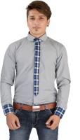 Saraul Formal Shirts (Men's) - Saraul Men's Solid Formal Blue Shirt