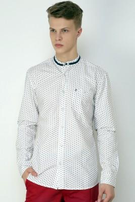 CHRISTIAN FABRE Men's Printed Casual White Shirt