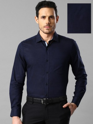 Invictus Men's Solid Formal Dark Blue Shirt