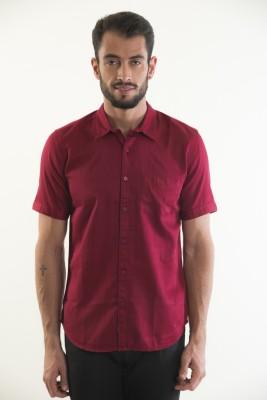 Kart & Kriss Men's Solid Casual Red Shirt