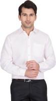 John Hupper Formal Shirts (Men's) - John Hupper Men's Solid Formal White Shirt