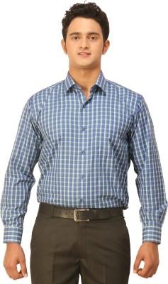 Seven Days Men's Checkered Formal Blue, Green Shirt