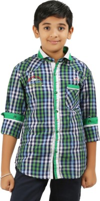 Cub Kids Boy's Printed Casual Green Shirt