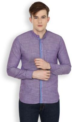 Cotton County Premium Men's Solid Casual Purple Shirt