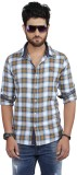 Nostrum Jeans Men's Checkered Casual Gol...