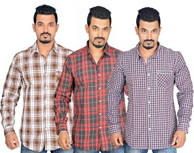 Factory Direct Men's Checkered Casual Multicolor Shirt