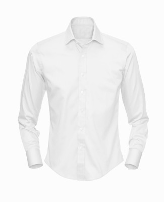 Stylo Junction Men's Solid Formal White Shirt