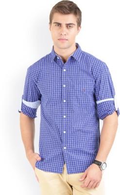 Bay Ridge Men's Checkered Casual Blue Shirt