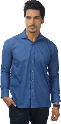 Zeal Mens Checkered Formal Blue, Black Shirt
