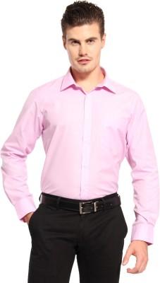 Fx Jeans Co Men's Solid Formal Pink Shirt