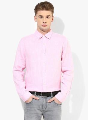 Jack & Jones Men's Solid Casual Pink Shirt