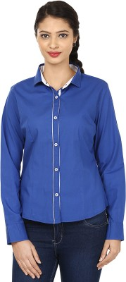 Smile By Nature Women's Solid Party Blue Shirt