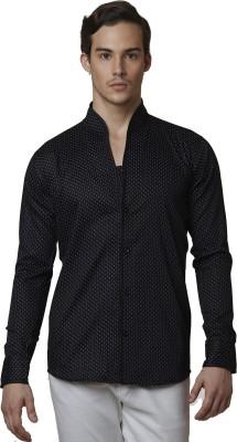 Lisova Men's Printed Formal Black Shirt