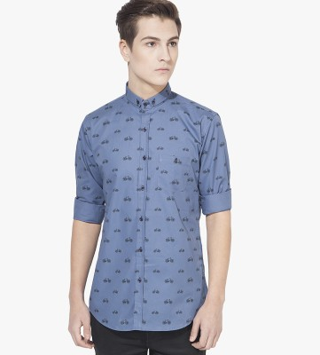 Green Hill Men's Solid Casual Blue Shirt