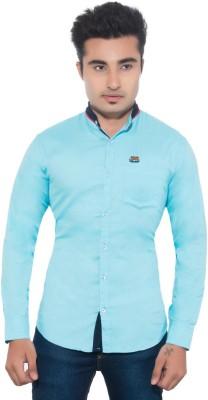 Goodkarma Men's Solid Casual Blue Shirt
