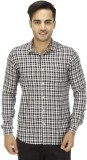 Wineberry Men's Checkered Casual Blue Sh...