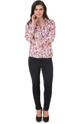 Silk Weavers Women's Floral Print Casual Multicolor Shirt