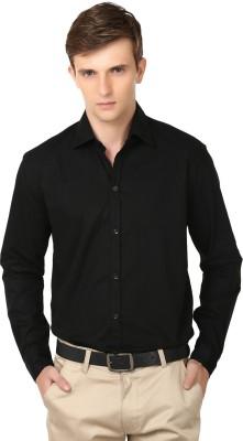 Alan Woods Men's Solid Casual Black Shirt