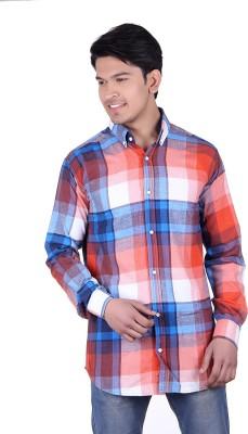 Thread Swag Men's Checkered Casual Blue, Multicolor Shirt