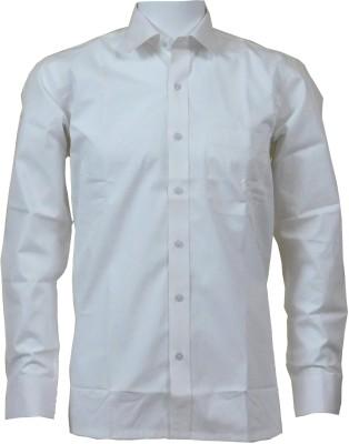 Ardeur Men's Solid Formal White Shirt