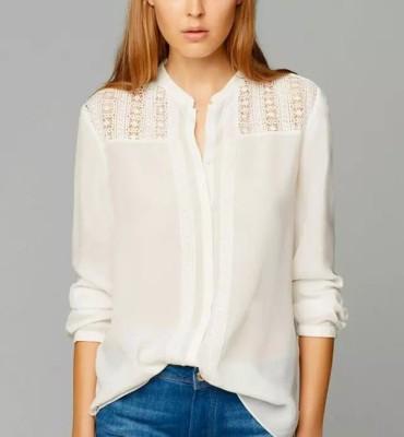 Santana Fashion Women's Solid Casual White Shirt