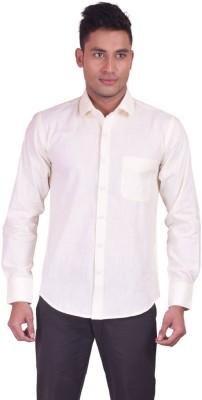 Jansons Men's Solid Formal Beige Shirt